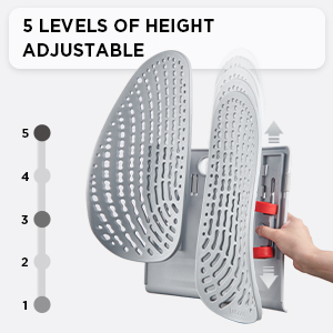 5 Levels of Height Adjustable