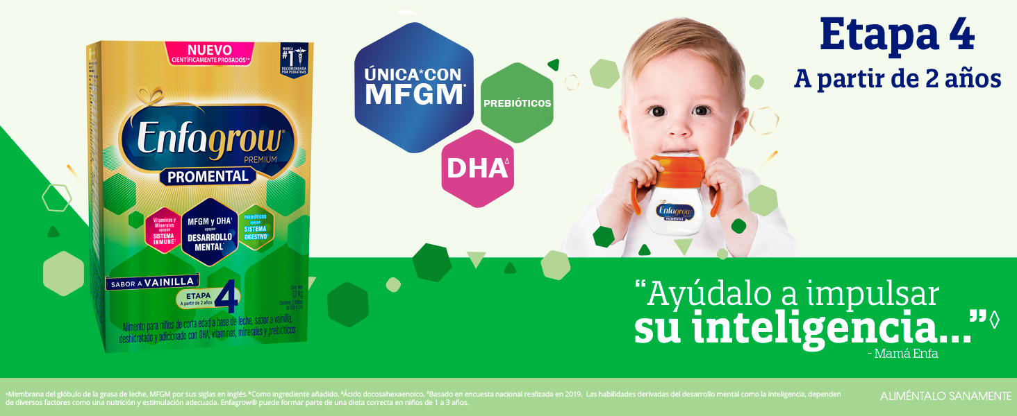 formula infantil, leche de crecimiento, leche, formula, enfagrow,enfagrow promental, alimento niños