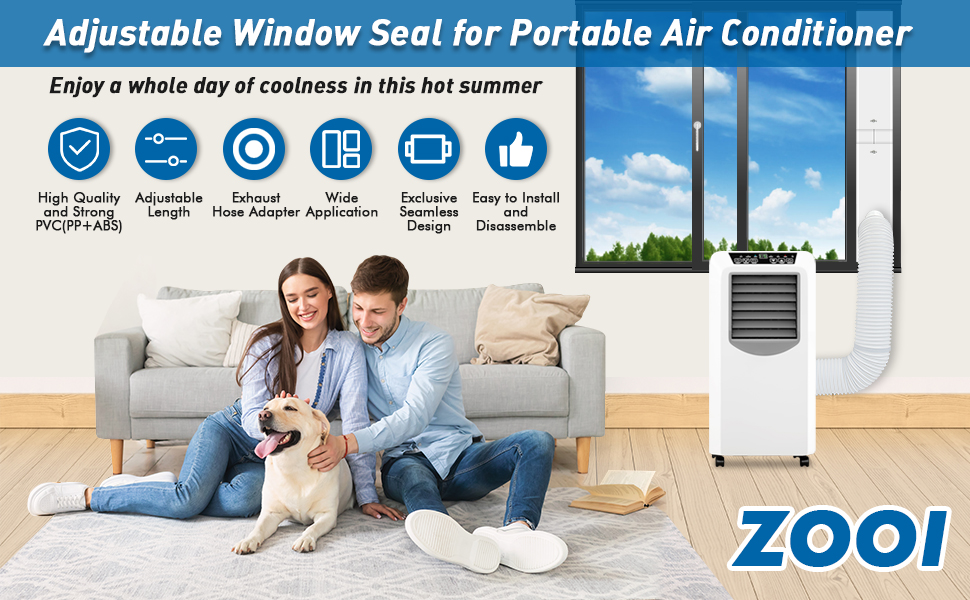 Adjustable Window Seal for Portable Air Conditioner