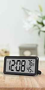 digital alarm clock for bedroom black
