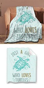 Just A Girl Who Love Turtles Throw Blanket