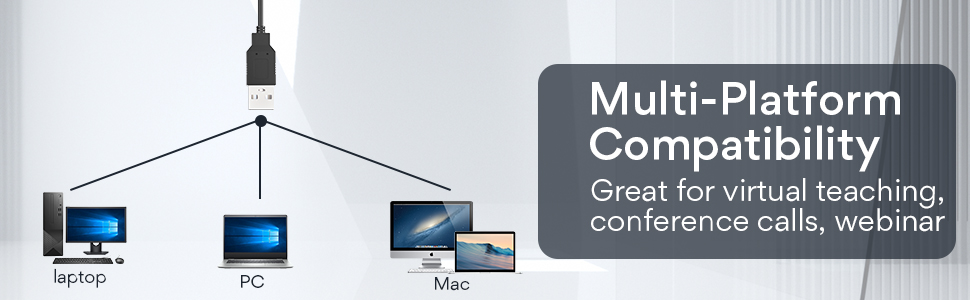 usb connection wide compatible with pc mac desktop laptop
