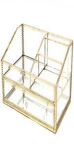 gold vanity storage