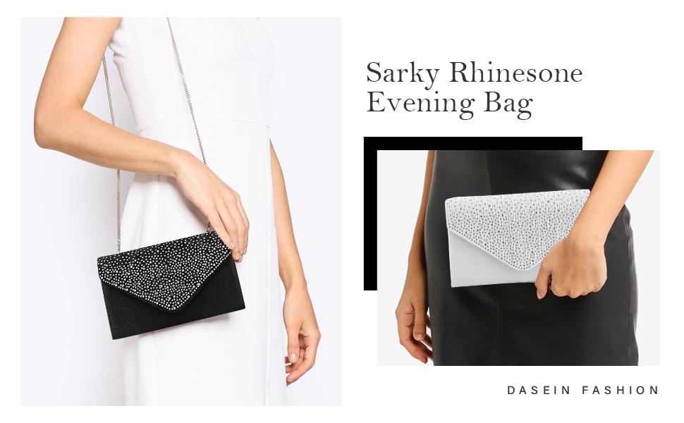 Womens Evening Envelop Bag Handbag Clutch Purse Shiny for Wedding Party