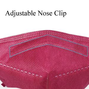 face mask with adjust nose clip
