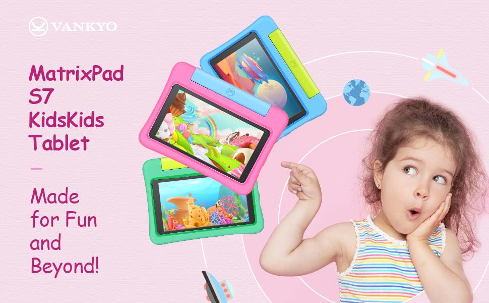 VANKYO 7 inch kids tablet with protective case 32GB Storage