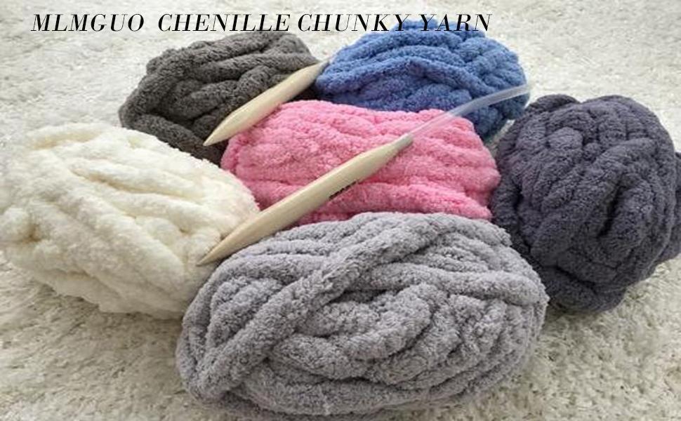 MLMGUO Chenille chunky yarn
