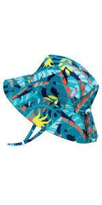 turtle navy blue boy kids sun hat