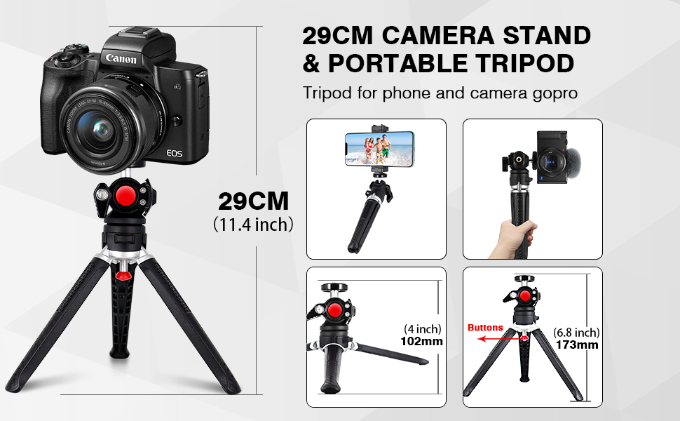 Tripod of  Universal Smartphone/Gopro/DSLR Compatible with Sony A6000  Canon G7X M50