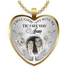 18k gold customized photo necklace