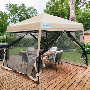 ez up canopy with mesh sidewall