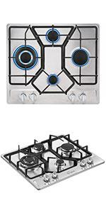 24amp;amp;amp;amp;amp;amp;amp;amp;#34; gas cooktop with 4 sealed burners