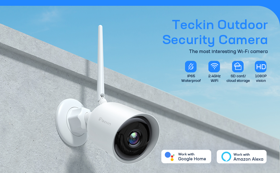 Teckin cam/Security cam/Home cam/Smart cam/Wifi cam/Indoor cam/Outdoor camera/