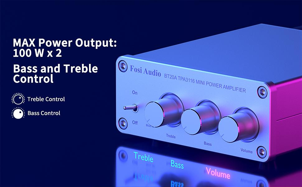 Fosi Audio BT20A-S Mini Power Amplifier