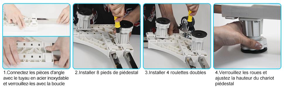 instructions de montage base de refrigerateur