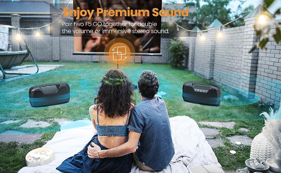 stereo sound bluetooth speaker TWS pairing