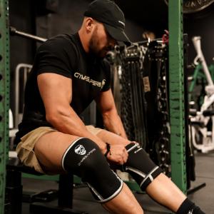 knee sleeves powerlifting strong power lifting neoprene sbr squat pain joint protection skull cross