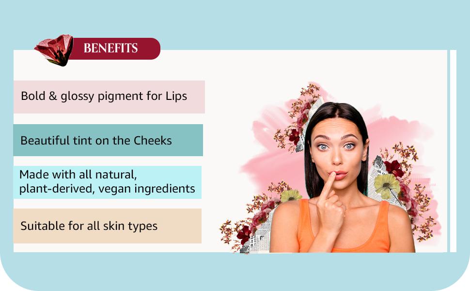 TAC - The Ayurveda Co. Beetroot Lip & Cheek Tint Benefits