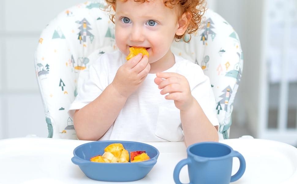 BLUE GINKGO Bowl for Kids Children Babies