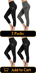 2 Packs Workout Capris with Pockets