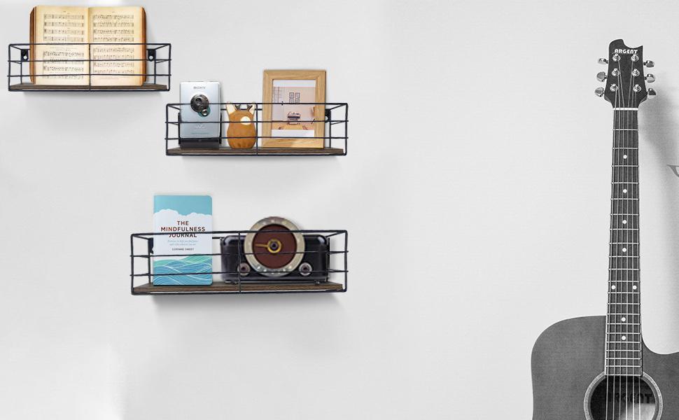 Floating Shelves Wall Mounted Set of 3