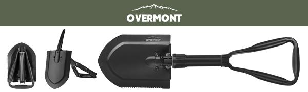 overmont tri-fold military shovel