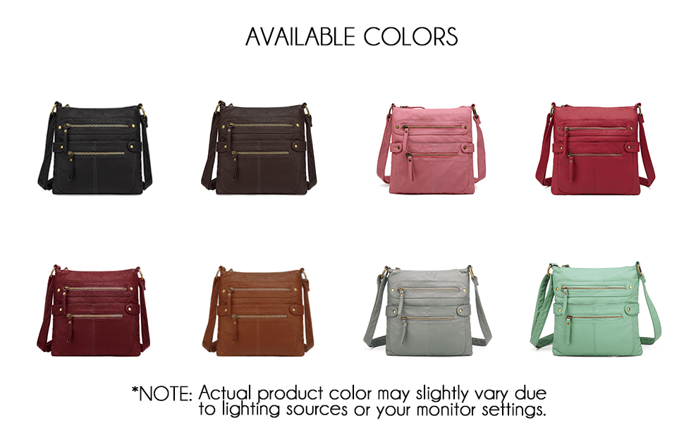 many color options such as black, brown, pink, red, burgundy, dark brown, grey, and mint