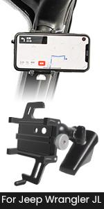 jeep wrangler JL JT A-Pillar Phone holder