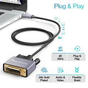 usb c to dvi cable