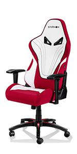 gaming chair red and white