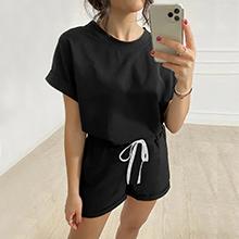 Black 2 Piece Loungewear