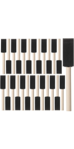 Bates- Foam Paint Brushes, 26pcs, 1 Inch