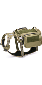 B07T616S32 Army Green Tactical Harness Comp Chart