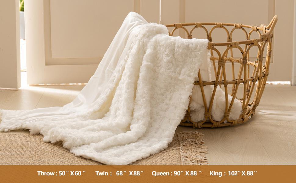 white throw blanket