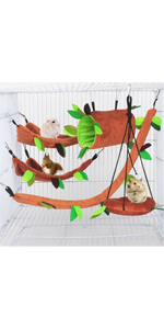 Hamster Hammock Small Animals Jungle Hanging Warm Bed House