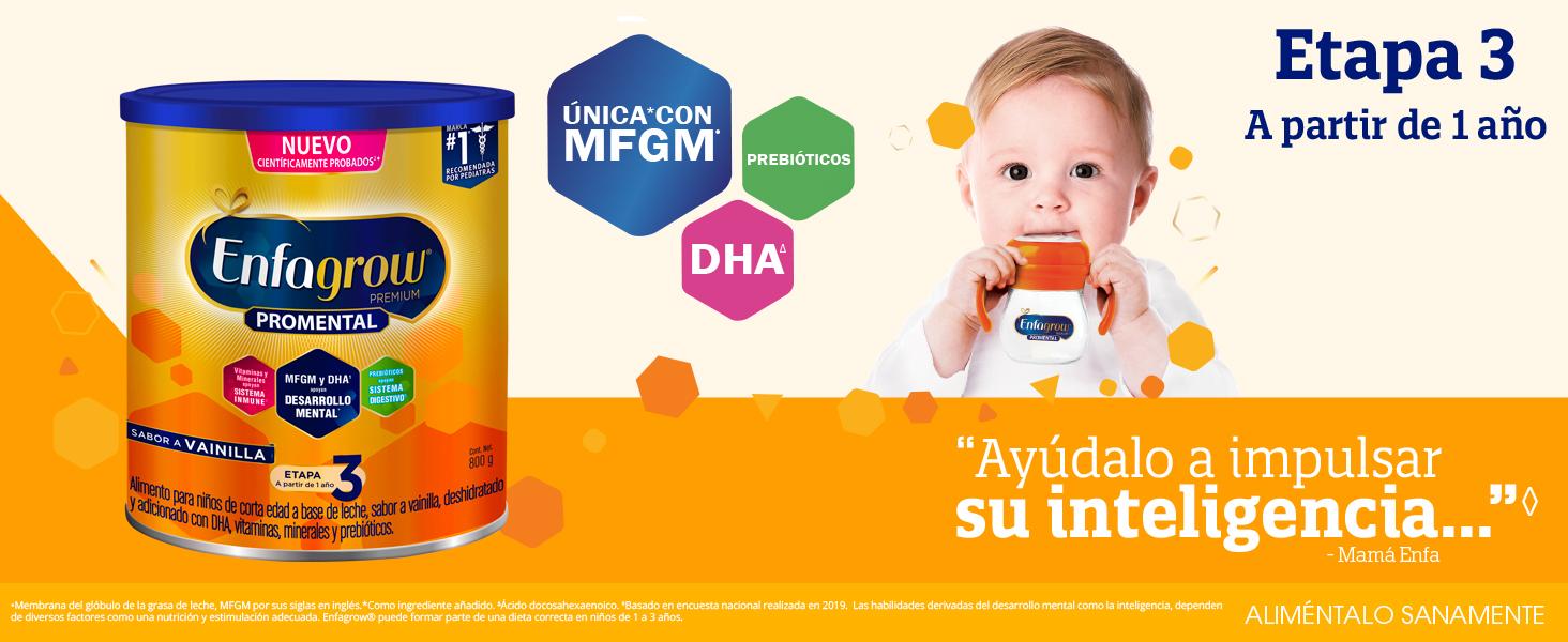 enfagow, enfamil, formula paa bebe, leche en polvo, mfgm, dha, bebe, enfa bebe, enfa, alimento bebe