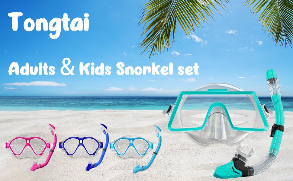 Adults kids snorkel set