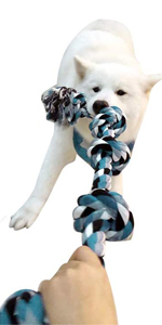 tug of war dog toys for aggressive chewers 5 knots