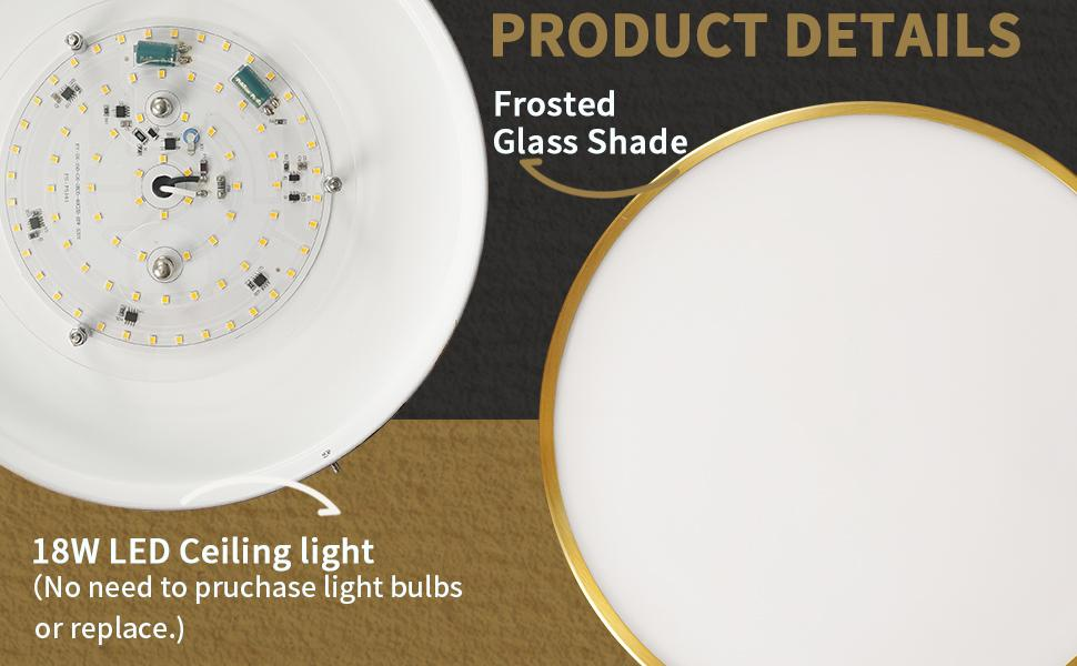 LED Close to ceiling light 18W