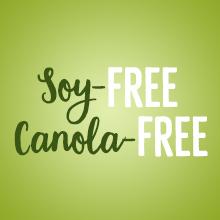 Soy-free canola-free