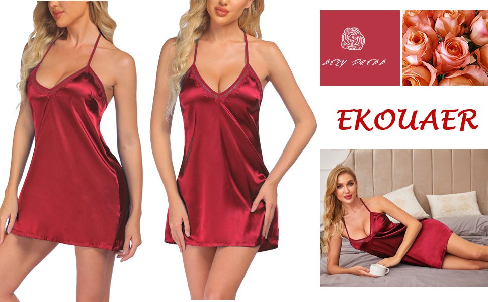 women nightgown satin