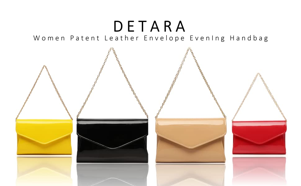 Patent Leather Envelope Clutch