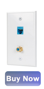 coax ethernet wall plate