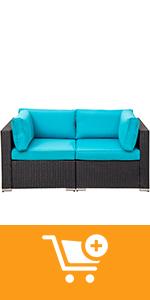 blue corner sofa set