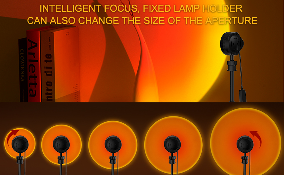 Sunset Lamp, Projector Light, 4 in 1 Changeable Color, Adjustable Color Brightness