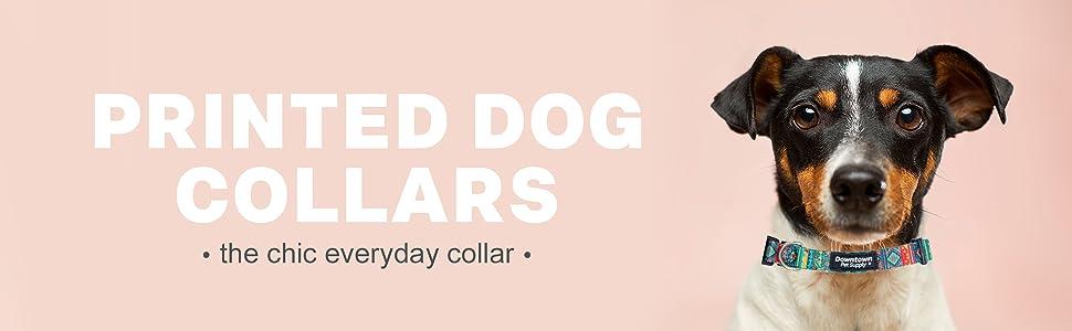 fun printed cute dog collars