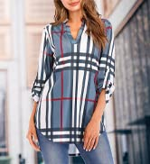 Women;s Casual Comfort Tunic Loose Fitting Tops Blouse