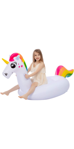 Inflatable Unicorn Pool Float