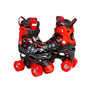 Eliiti Red Quad Skates for Kids Boys Girls Youth
