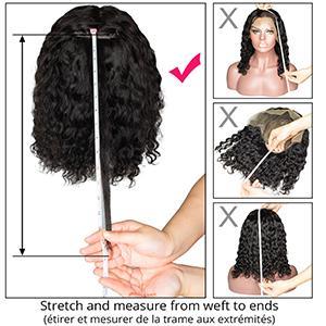 deep wave frontal wigs for black women